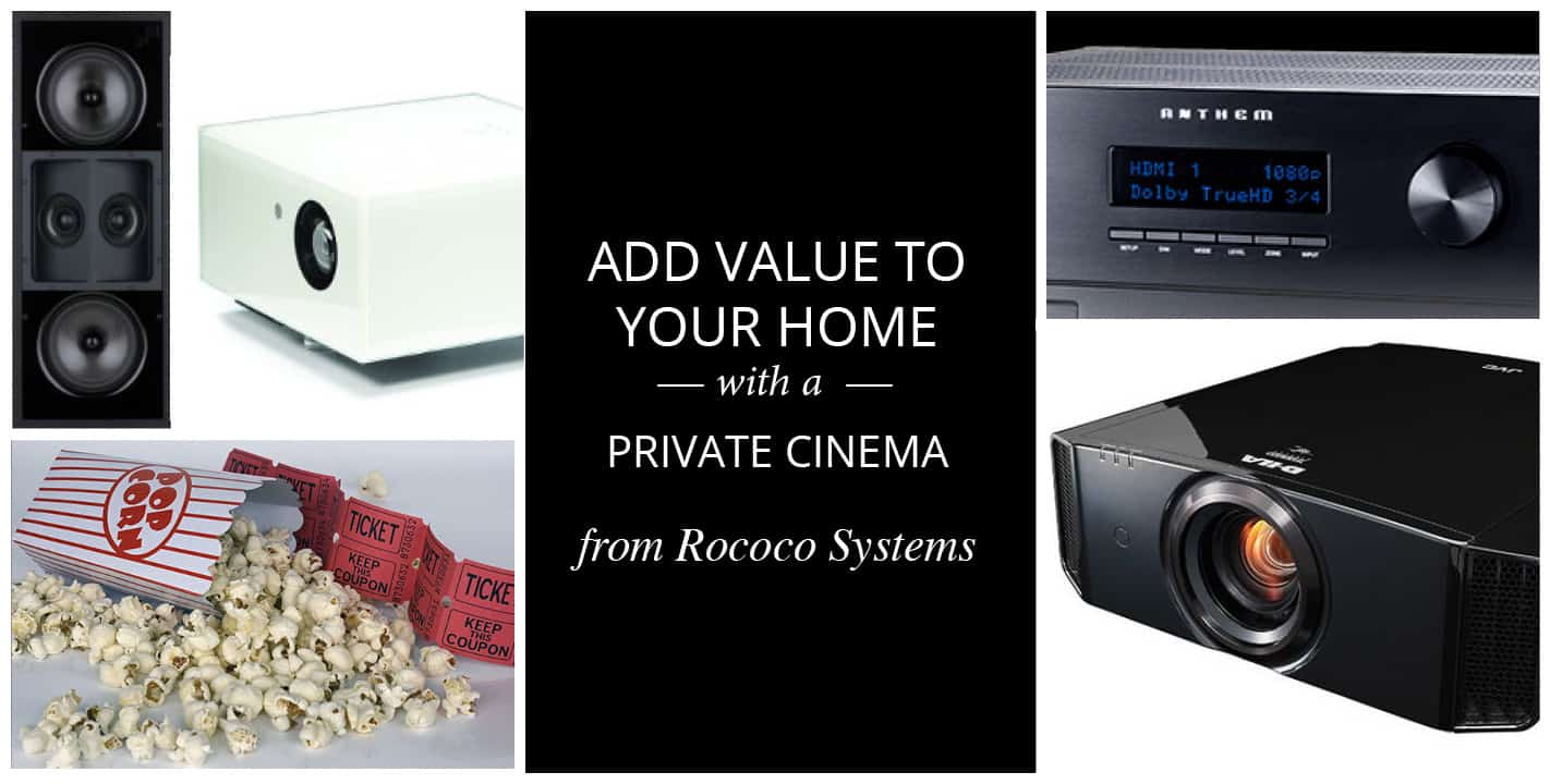 Add value to your home with a home cinema system